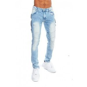 Other - Men Biker Side Zipper Skinny Jeans
